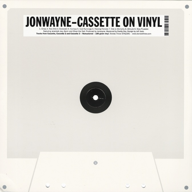 Jonwayne « Cassette on Vinyl » @@@@